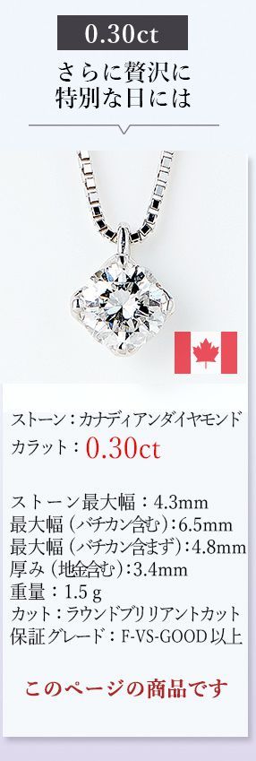 一粒ダイヤモンドネックレス0.30ct